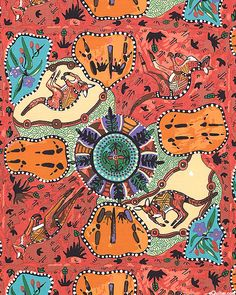 Australian Import - Kangaroo Ground - Quilt Fabrics from www.eQuilter.com