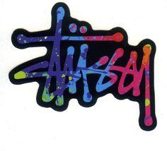 #1768 Stussy Color Logo , 9 x 8 cm decal sticker - DecalStar.com