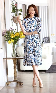 Long Dress Chiffon Import DS4102 Blue