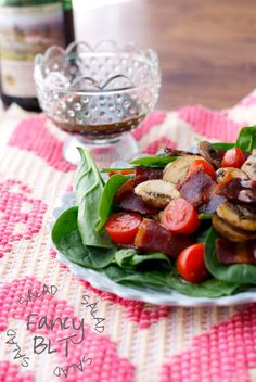 Fancy BLT Salad {recipe via Simply Happenstance} #paleo #blt #salad