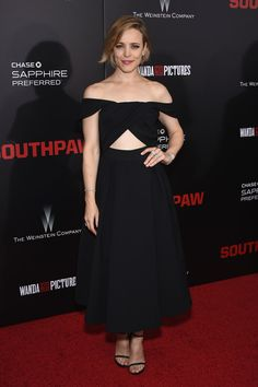 Make a traditional silhouette more modern by adding a cut-out -- Rachel McAdams in Self-Portrait
