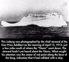 This iceberg was photographed by...