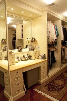 Walk-In Closet & Make-Up Table... WOW