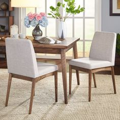 Simple Living Element Mid-Century Dining Chair (Element Mid-Century Dining Chair), Grey (Fabric)