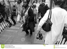 Busy Staircase Black And White Editorial Stock Image - Image of theaf, purse: 104612954 White Editorial, High Contrast Images, Shopping Center, Black And White, City, Nantes, Black N White, Shopping Mall, Black White