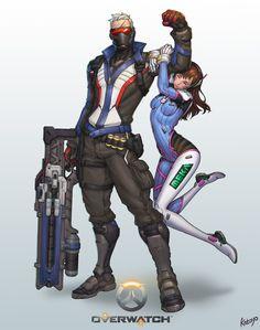 Overwatch-soldier76 D.Va, SangHyun Yu on ArtStation at https://www.artstation.com/artwork/W8G0N