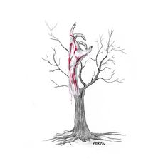 handtree pencil and paper #drawing #illustration #art #traditionalart #hand #tree #horror #deadtree #dead #death #bloody