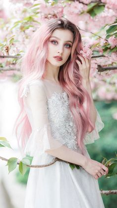 Conceptual and Fine Art Portrait Photography by Jovana Rikalo Conceptual and Fine Art Portrait Photography by Jovana Rikalo Fantasy Photography, Portrait Photography, Landscape Photography, Beautiful Eyes, Beautiful People, Beautiful Flowers, Art Visage, Pink Wig, Female Character Inspiration