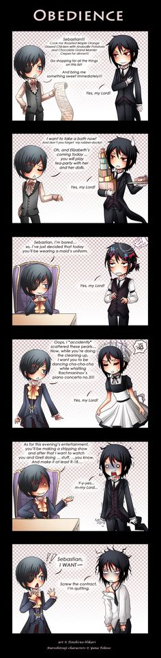 Black Butler ~~ You had me at the list of gourmet food at the top. Everything else was gravy, pardon the pun.