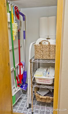 Simply Organized: Organizing the Cleaning Closet
