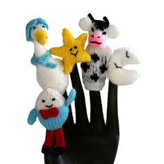 Mother Goose Finger Puppet Set of 5 - Fair Trade - #shopfairtrade #thisbluesea #fairtrade  This set of finger puppets is made from wool by a cooperative of women who live high in the Andes mountains of Peru. Each pieces is approximately 3 inches tall.  Meet the Artisans  Global Handmade Hope began in 2009 after a trip to Rwanda. With the mission is to promote social justice, help families provide food, shelter, education and gain access to health care. They accomplish this goal by offering…