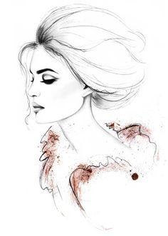 Beautiful Fashion Illustration // Kornelia Dębosz