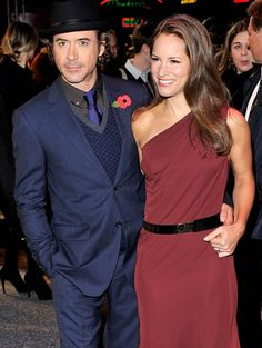 """Robert Downey Jr. and his wife Susan Downey attend the """"Due Date"""" Premiere at The Empire Cinema, Leicester Square on Nov. 3, 2010, in London."""