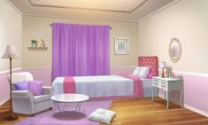 Episode Interactive Backgrounds, Episode Backgrounds, Anime Backgrounds Wallpapers, Girl Room, Girls Bedroom, Bedroom Designs Images, Casa Anime, Royal Bedroom, Anime Places