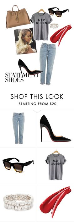 """Just a little lazy"" by krisztina-holovcsak on Polyvore featuring Topshop, Christian Louboutin, CÉLINE, Lauren Conrad, Suzanne Kalan and Gucci"