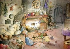 'Chestnuts Roasting' is very similarly themed to 'Fireside Mice'. The difference being a few years more experience on my part! In this image I wanted to really convey a sense of warmth in the room....