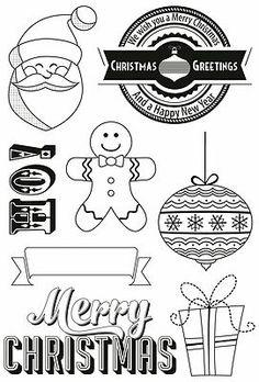 KAISERCRAFT Clear Christmas Rubber Stamp Set GINGERBREAD CS117 For Card Making #Kaisercraft