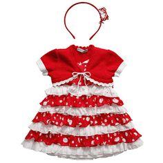Three piece set from Monnalisa dresses, red dress