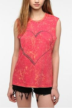 Blackstone Mineral Washed Heart Muscle Tee