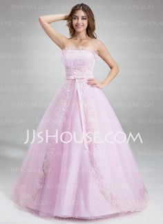 Quinceanera Dresses - $186.99 - Ball-Gown Scalloped Neck Chapel Train Satin Tulle Quinceanera Dress With Ruffle Lace Beading (021020618) http://jjshouse.com/Ball-Gown-Scalloped-Neck-Chapel-Train-Satin-Tulle-Quinceanera-Dress-With-Ruffle-Lace-Beading-021020618-g20618
