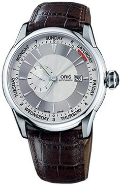 Oris Artelier Small Second Pointer Day Automatic Mens Watch 645-7596-4051LS