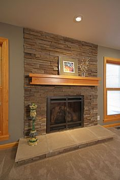 Updating a 1960s ranch home fireplace to be more contemporary