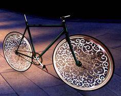 A Marcel Wanders bicycle by Melanie in New York    Read more at Design Milk: http://design-milk.com/ylighting-marcel-wanders-pattern-play-design-contest-winners/#ixzz1nhZri9yz