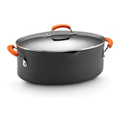 Rachael Ray Hard Anodized Nonstick 8-Quart Oval Pasta Pot with Glass Lid, Orange ** Check out this great product.