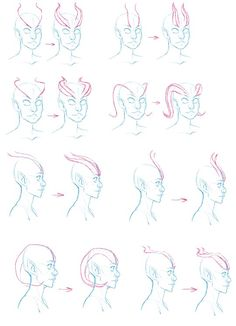 how to draw anime horns