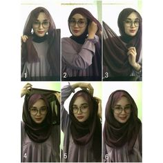 Beautiful 2 Minutes Hijab Tutorial For Glasses - Hijab Fashion Inspiration This. Beautiful 2 Minutes Hijab Tutorial For Glasses – Hijab Fashion Inspiration This is a fun and eas Square Hijab Tutorial, Simple Hijab Tutorial, Hijab Style Tutorial, Scarf Tutorial, Hijab Wedding, How To Wear Hijab, Mode Turban, Modele Hijab, Stylish Hijab