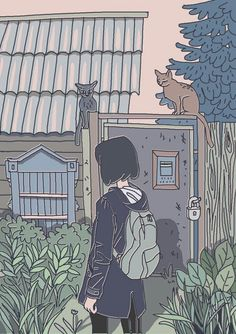 Shared by bedoor ali. Find images and videos about art, anime and photo on We Heart It - the app to get lost in what you love. Art And Illustration, Illustrations, Aesthetic Art, Aesthetic Anime, Aesthetic Japan, Aesthetic Drawing, Pretty Art, Cute Art, Art Sketches