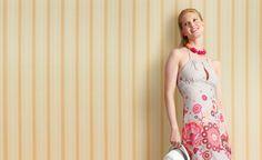 Ausführliche Nähanleitung mit Schnittmuster-Download für ein strand- und stadttaugliches Sommerkleid aus Bordürendruckstoff.