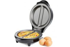 Andrew James Dual Omelette Maker Electric - Easy Cleaning Non Stick Plates Easily Makes Omelettes Fried and Scrambled Eggs - Features Non Slip Feet and Cool Touch Handle Kitchen Dinning Room, Electric Cooker, Appliance Sale, Multicooker, Cooking Appliances, Weight Loss Snacks, Waffle Iron, Non Stick Pan, Maker