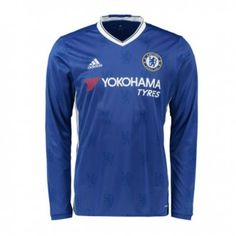 8f4f9eb9eb1 16-17 Chelsea Home Thailand Fans Long Sleeve Man Soccer Jersey Chelsea Shirt