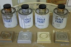 Using Gilding Wax with Chalk & Milk paint.