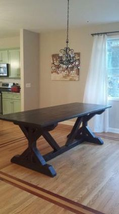 Fancy X Farmhouse Table | Do It Yourself Home Projects from Ana White