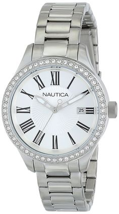 Nautica Women's N14681M BFD 101 Date Mid Japanese Three Hand Watch * You can find more details by visiting the image link.