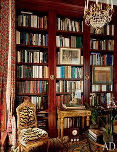 Paris apartment library