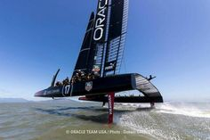 ORACLE training in SF bay for America's Cup via America's Cup