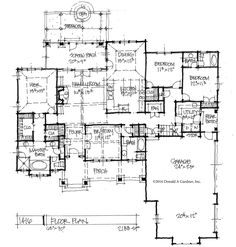 Love this! Add a couple feet to the master, a second sink to 2nd bath and turn the rear entry into storage.  Great layout. Conceptual Design #1416 - First floor plan