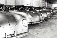 Porsche Classic  ##    Porsche factory in Zuffenhausen in the 50s