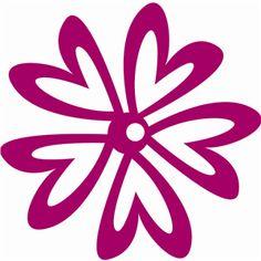 Silhouette Design Store - View Design #7199: heart flower