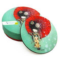 Sous-verre Ketto - Geisha / Ketto's coasters - Geisha  www.kettodesign.com