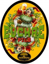Euchre Pilsner - Arbor Brewing Company; Euchre is a true Pilsner style beer – medium-light bodied and crisp yet bursting with noble hop flavor perfectly balanced by a pale malt base.  Authentic German-style pilsners are not bland or watery and ours pushes the category boundaries just a tad at 5.7% ABV and 47 IBUs