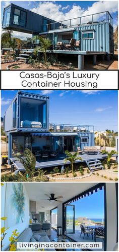 Casas-Baja is providing top-quality container houses to customers with an eco-friendly luxury environment. Shipping Container Cabin, Cargo Container Homes, Shipping Container Home Designs, Building A Container Home, Container Buildings, Container House Plans, Container House Design, Tiny House Design, Shipping Containers