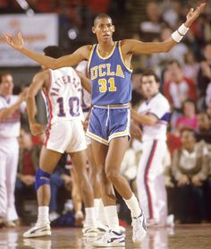 UCLA guard Reggie Miller argues with a ref during a 1984 game against DePaul. In this week's issue of Sports Illustrated, senior writer George Dohrmann looks at the swift decline of the storied. Ucla Bruins Football, I Love Basketball, Basketball Pictures, Basketball Legends, Sports Pictures, College Basketball, Basketball Diaries, Ncaa College, Nba Stars