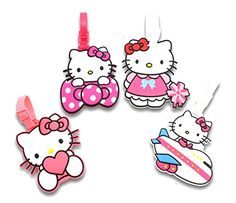 5fd17432835c Finex Set of 4 Hello Kitty Travel Luggage ID Tag for Bags Suitcases  (Character)