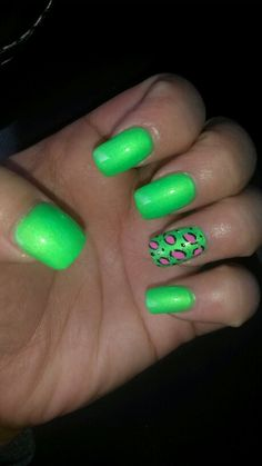 Lime Green Nails!!