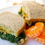 Kale and tempeh sandwich