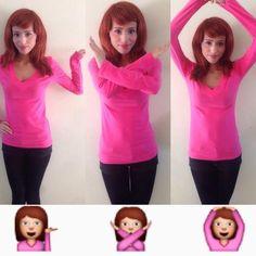 Chicas que se disfrazan de emoticono de WhatsApp - Segnorasque